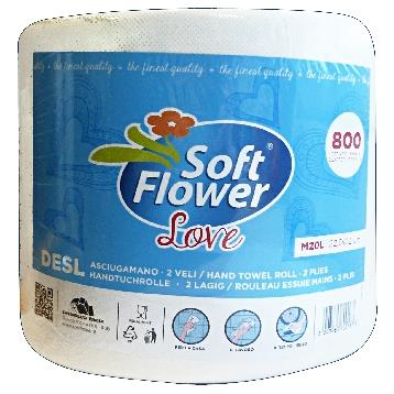 SOFT FLOWER * 1 ASCIUG. LOVE 800 STRAPPI