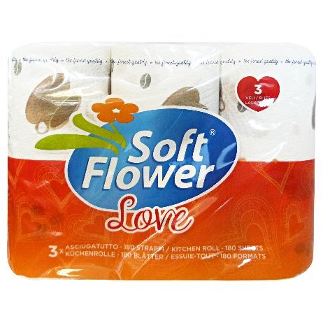 SOFT FLOWER * 3 ASCIUG. LOVE 3 VELI