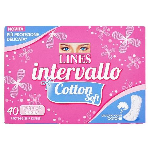 LINES INTERVALLO SALVASLIP 40 PZ. COTTON SOFT
