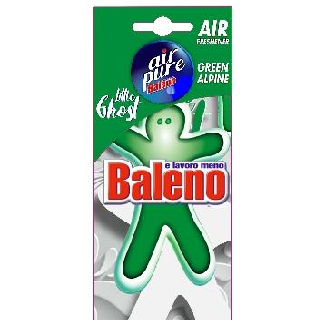 AIR PURE DEODORANTE AUTO OMINO  LITTLE GHOST GREEN ALPINE