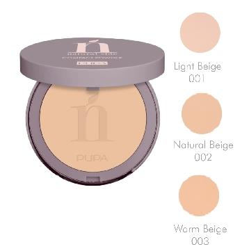 PUPA NATURAL SIDE COMPACT POWDER 03 Warm Beige CIPRIA *