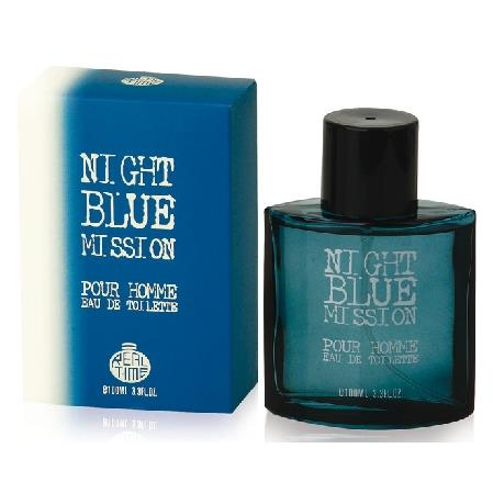REAL TIME EDT UOMO 100 ML. NIGHT BLUE MISSION-BULGARI AQUA