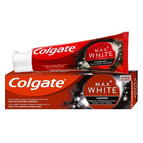 COLGATE DENTIFRICIO 75 ML. MAX WHITE CARBONE
