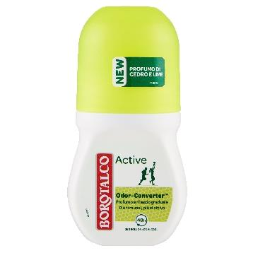 BOROTALCO DEODORANTE ROLL-ON 50 ML. ACTIVE CEDRO / LIME
