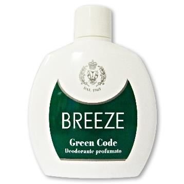 BREEZE DEODORANTE SQUEEZE 100 ML. GREEN CODE