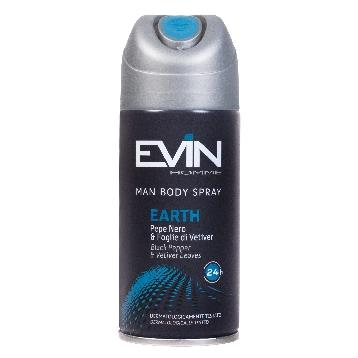 EVIN DEODORANTE SPRAY 150 ML. UOMO EARTH