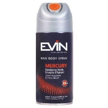 EVIN DEODORANTE SPRAY 150 ML. UOMO MERCURY
