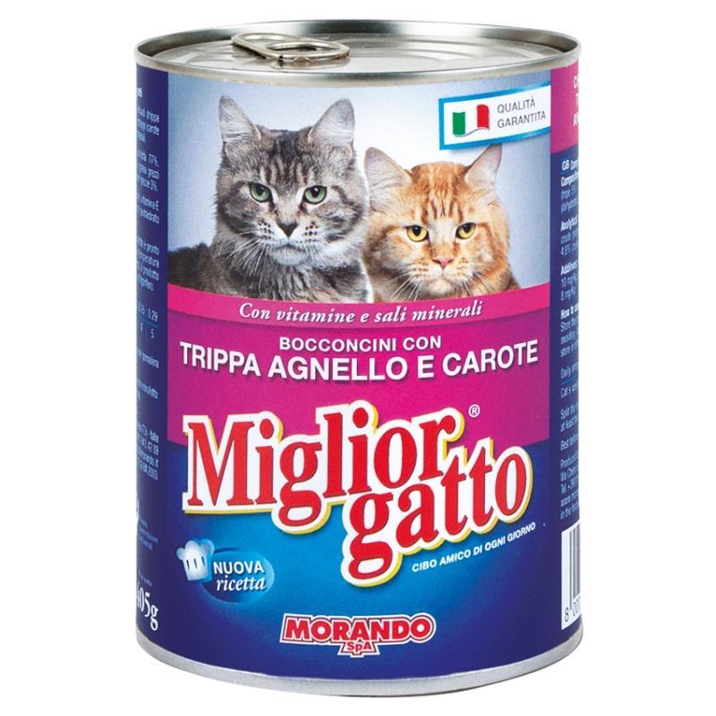 Miglior g baratt 405 gr umido bocc trippa agn car for Miglior cibo per gatti