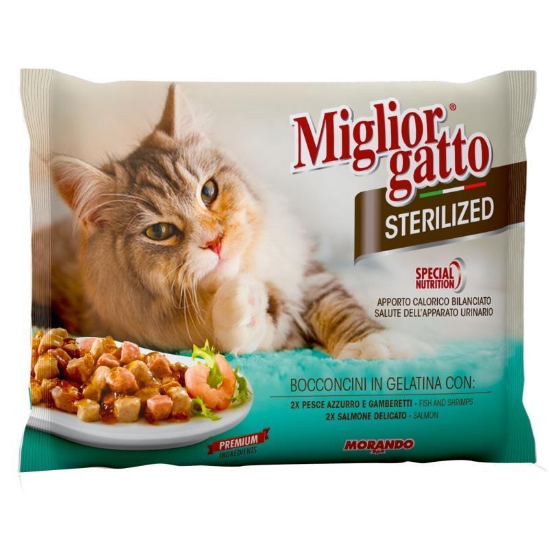 Miglior g buste 4 pz pesce gamb salmone steriliz for Miglior cibo per gatti