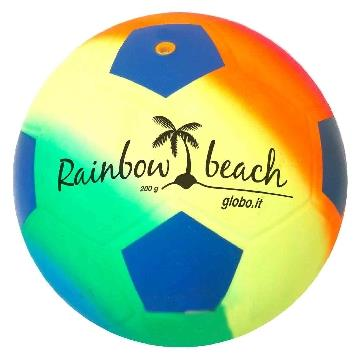 PALLONE CALCIO MULTICOLOR BEACH 22 CM. GLOBO           39234