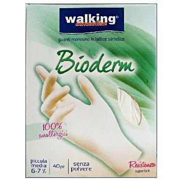 GUANTI 40 PZ. BIODERM S / M LATTICE WALKING