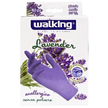 GUANTI 40 PZ. LAVENDER S / M LATTICE SENZA POLVERE WALKING
