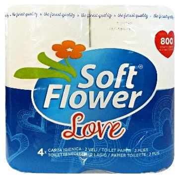 SOFT FLOWER * 4 IGIENICA LOVE 2 VELI 800 STRAPPI