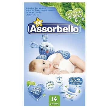 ASSORBELLO DRY FIT 6 EXTRA LARGE 15-30 KG. *14 PZ. PANNOLINI