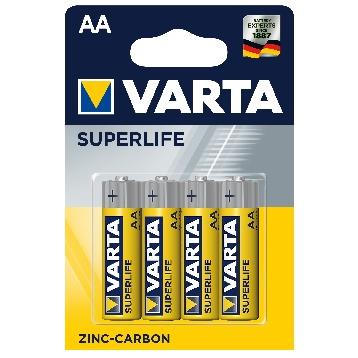 VARTA SUPERLIFE 4 PZ. AA STILO                      COD. 2006
