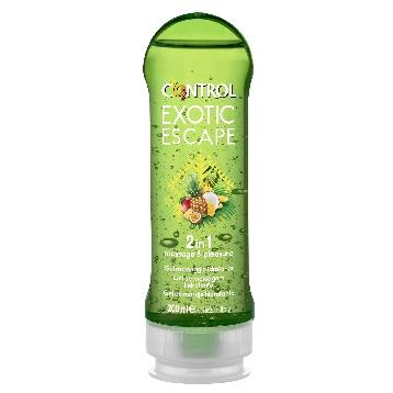 CONTROL GEL MASSAGGIO E LUB. EXOTIC ESCAPE 200 ML.