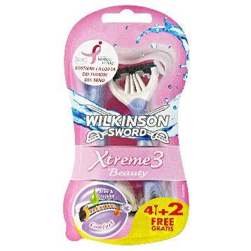 WILKINSON RADI E GETTA LADY XTREME3 BEAUTY 4 + 2 PZ.