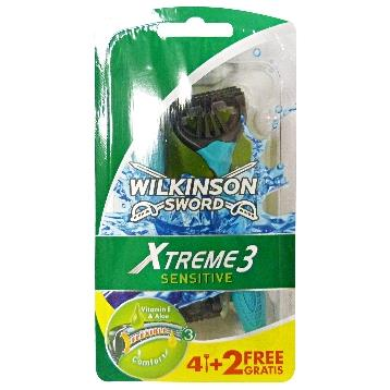 WILKINSON RADI E GETTA XTREME3 SENSITIVE 4 + 2 PZ
