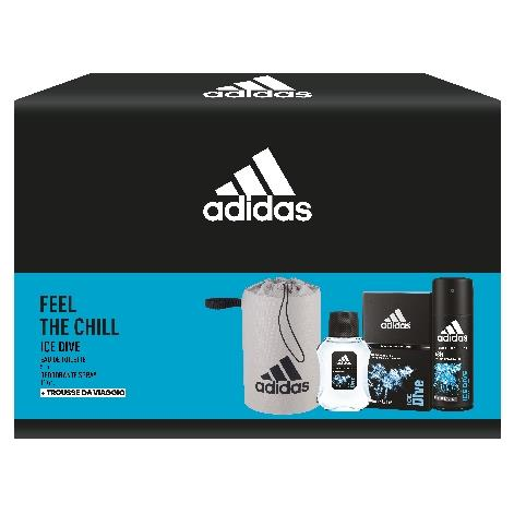 ADIDAS REG. TROUSSE + EDT 50ml + DEO 150ml ICE DIVE