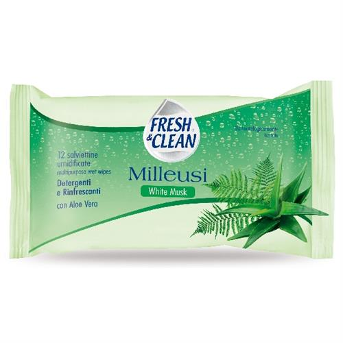 FRESH & CLEAN SALVIETTE MILLEUSI 12 PZ. WHITE MUSK     20694