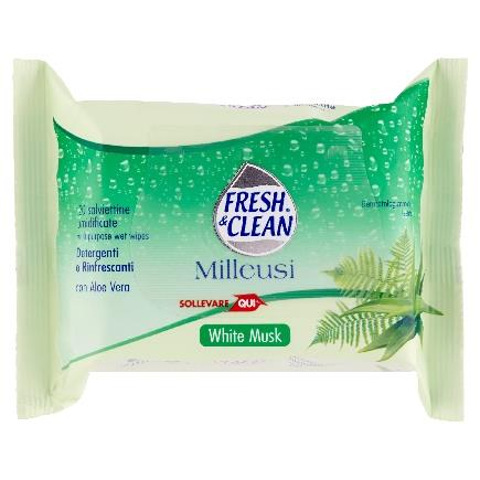 FRESH & CLEAN SALVIETTE MILLEUSI 20 PZ. WHITE MUSK