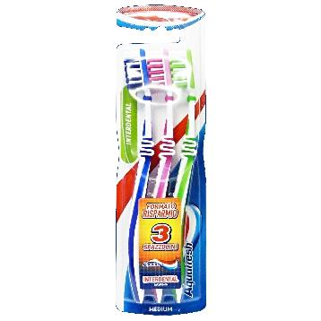 AQUAFRESH SPAZZ. INTERDENTAL *3 PZ. MEDIO