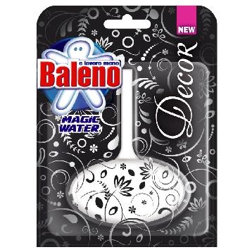 BALENO TAVOLETTA WC SOLIDA MAGIC WATER DECOR  BLACK