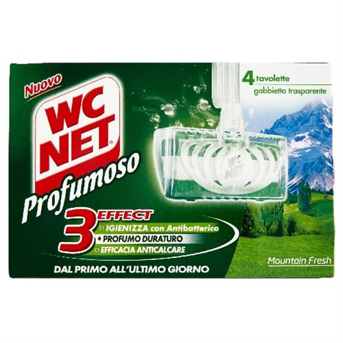 WC NET TAVOLETTA SOLIDA WC MOUNTAIN FRESH 4 PZ. 3EFFECT