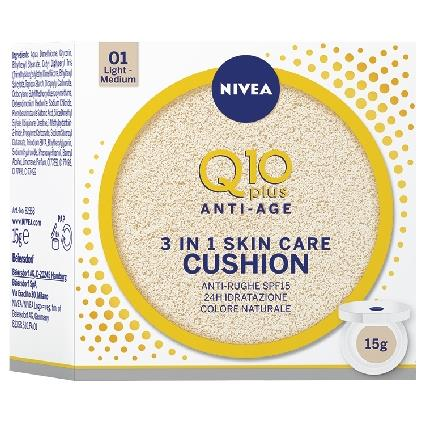 NIVEA VISO CREMA Q10 CUSHION + FONDOT. LIGHT / MEDIUM 15ML. 82358